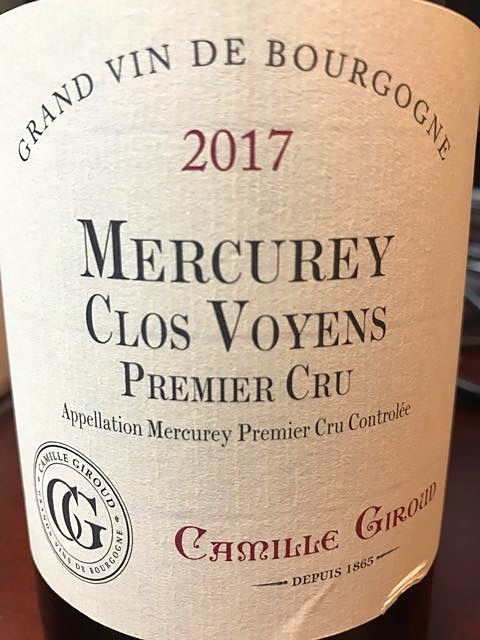 Camille Giroud Mercurey 1er Cru Clos Voyens(カミーユ・ジルー メルキュレイ プルミエ・クリュ クロ・ヴォワイアン)
