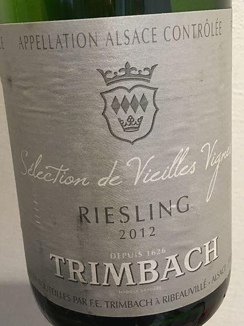 Trimbach Riesling Sélection de Vieilles Vignes(トリンバック リースリング セレクション・ド・ヴィエイユ・ヴィーニュ)
