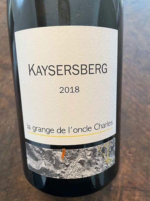 La Grange de l'Oncle Charles Kaysersberg 2018(ラ・グランジュ・デ・ロンクル・シャルル カイザルスベルグ)