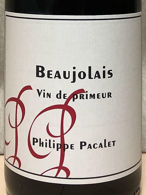 Philippe Pacalet Beaujolais Vin de Primeur(フィリップ・パカレ ボジョレー ヴァン・ド・プリムール)