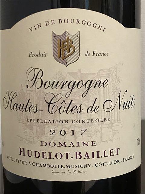 Dom. Hudelot Baillet Bourgogne Hautes Côtes de Nuits Rouge(ドメーヌ・ユドロ・バイエ ブルゴーニュ・オート・コート・ド・ニュイ)