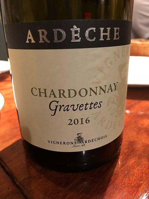 Vignerons Ardéchois Ardèche Chardonnay Gravettes