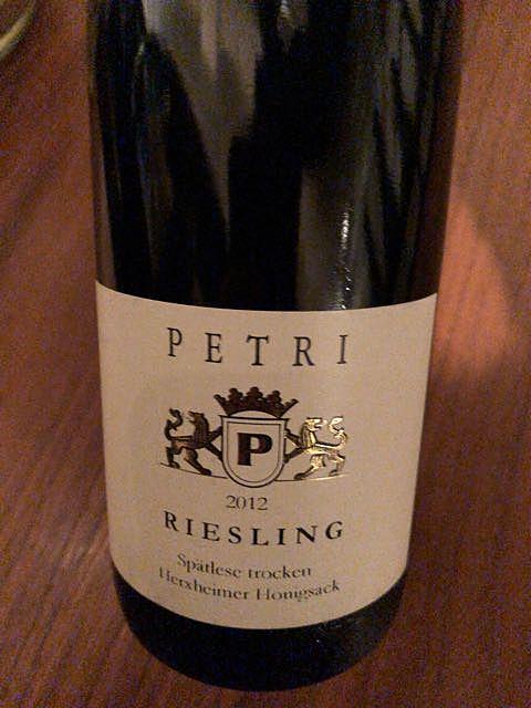 Petri Riesling Spätlese trocken Herxheimer Honigsack(ペトリ リースリング シュペトレーゼ トロッケン ヘルクスハイマー・ホーニヒザック)