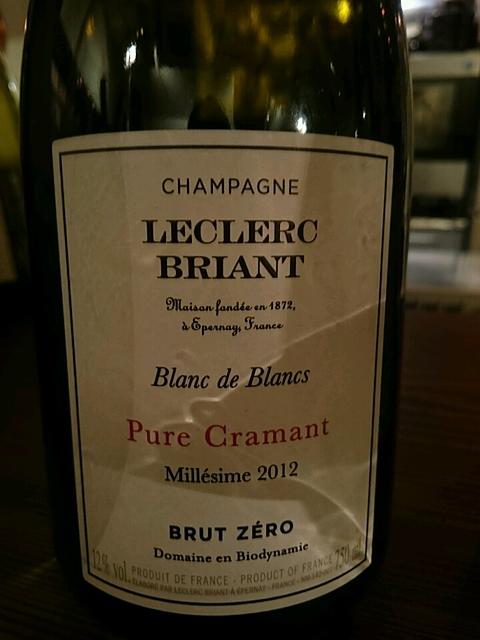 Leclerc Briant Pure Cramant Brut Zéro(レクレール・ブリアン ピュール・クラマン ブリュット・ゼロ)