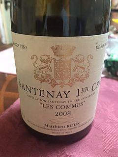 Matthieu Roux Santenay 1er Cru Les Commes(マテュー・ルー サントネイ プルミエ・クリュ ラ・コム)
