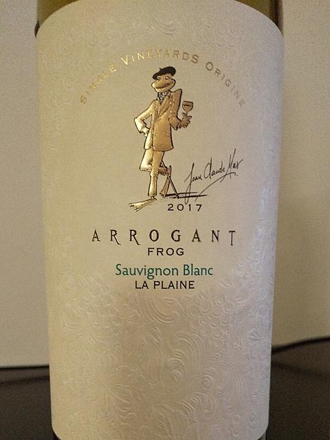 Arrogant Frog Sauvignon Blanc La Plaine(アロガント・フロッグ ソーヴィニヨン・ブラン ラ・プレーニュ)