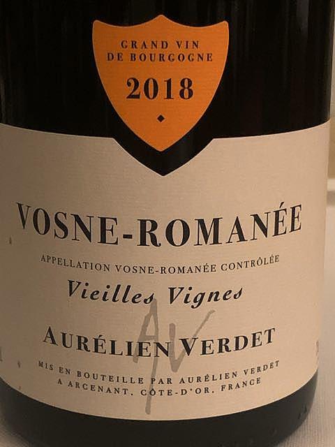 Aurélien Verdet Vosne Romanée Vieilles Vignes