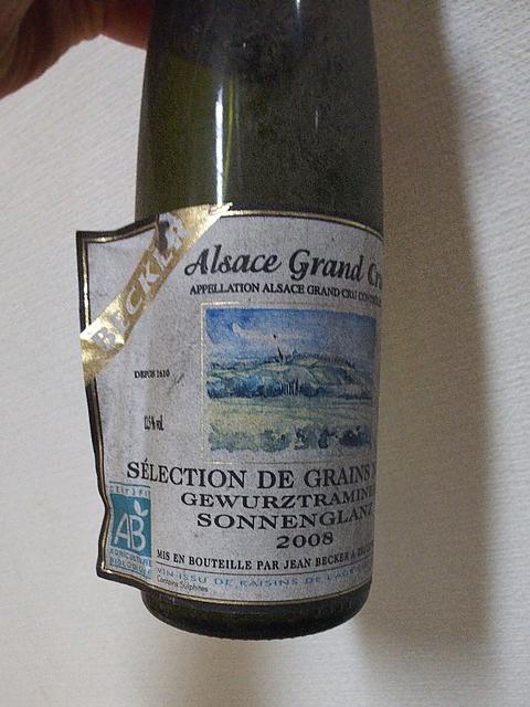 Jean Becker Grand Cru Sonnenglanz Gewürztraminer Sélection de Grains Nobles(ジョン・ベッカー グラン・クリュ ゾンネングランツ ゲヴュルツトラミネール セレクション・ド・グラン・ノーブル)