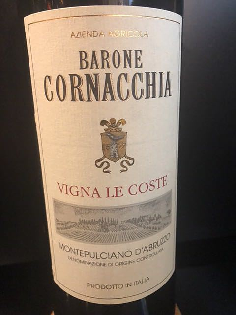 Barone Cornacchia Vigna Le Coste Montepulciano d'Abruzzo