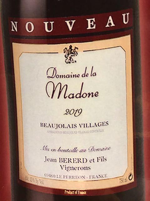 Dom. de la Madone Beaujolais Villages Nouveau