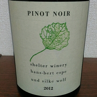 Shelter Winery Pinot Noir