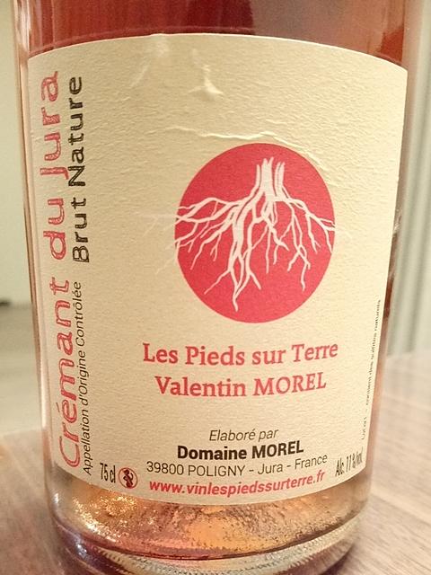 Valentin Morel Les Pieds Sur Terre Crémant Jura Brut Nature Rosé