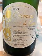 Cyrille Sevin Crémant de Loire Brut Non Dosé