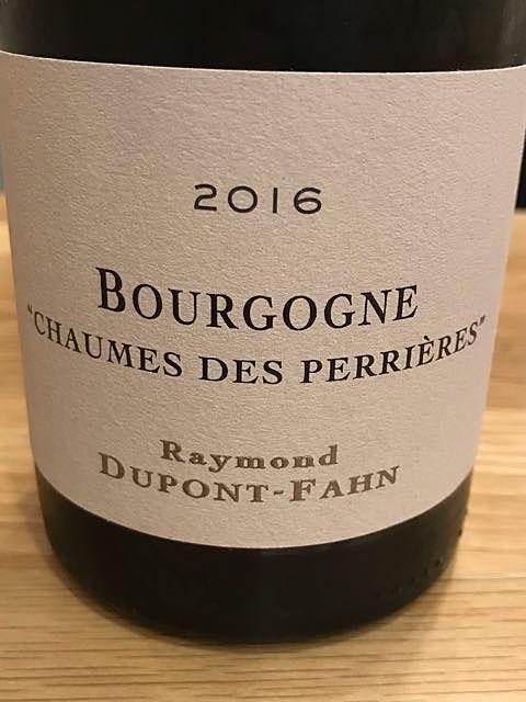Dom. Dupont Fahn Bourgogne Chaumes des Perrières