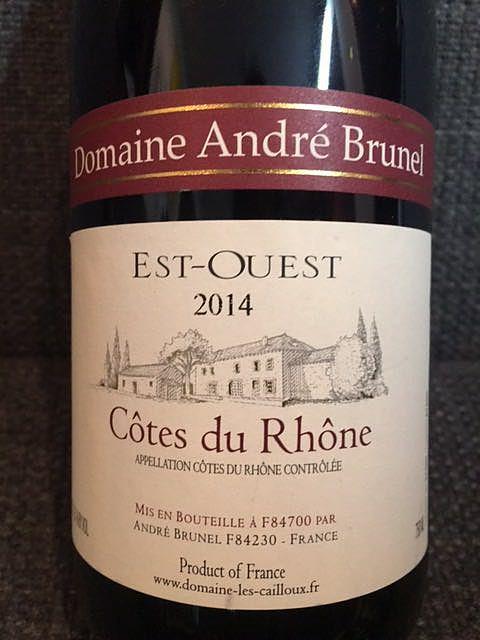 Dom. André Brunel Côtes du Rhône Est Ouest(ドメーヌ・アンドレ・ブルネル コート・デュ・ローヌ エスト・ウエスト)