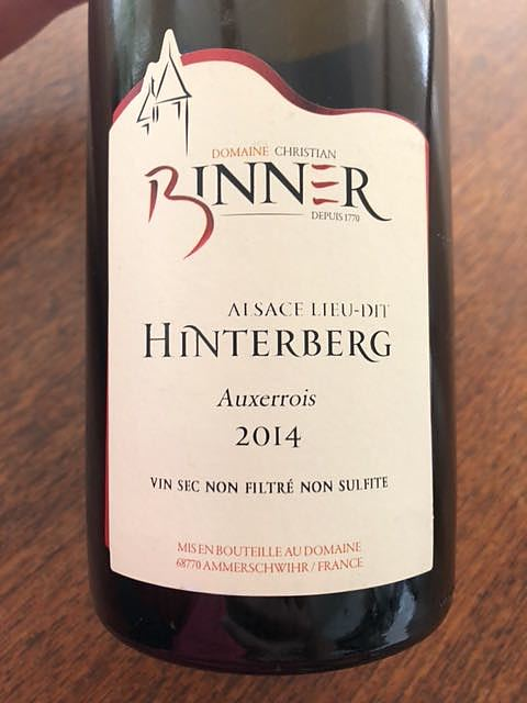Binner Hinterberg Muscat(ビネール ヒンテルベルグ ミュスカ)