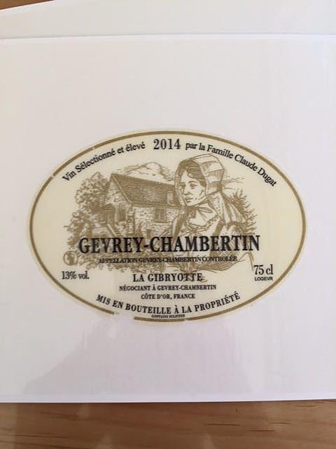 La Gibryotte Gevrey Chambertin(ラ・ジブリオット ジュヴレ・シャンベルタン)