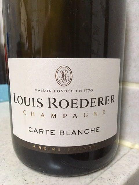 Louis Roederer Carte Blanche Demi Sec(ルイ・ロデレール カルト・ブランシュ ドゥミ・セック)