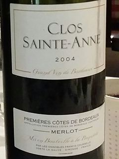 Vignobles Francis Courselle Clos Sainte Anne