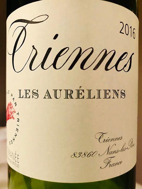 Triennes Les Auréliens Rouge(トリエンヌ レ・ゾーレリアン ルージュ)