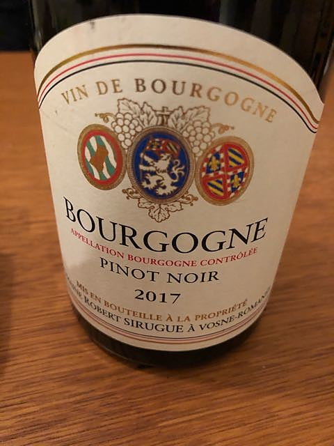 Dom. Robert Sirugue Bourgogne Pinot Noir(ドメーヌ・ロベール・シリュグ ブルゴーニュ ピノ・ノワール)