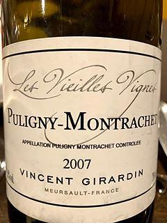 Vincent Girardin Puligny Montrachet Vieilles Vignes