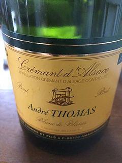 André Thomas Crémant d'Alsace Blanc de Blancs Brut(アンドレ・トーマス クレマン・ダルザス ブラン・ド・ブラン ブリュット)