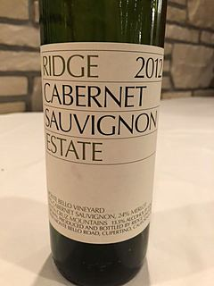 Ridge Estate Cabernet Sauvignon 2012(リッジ エステート カベルネ・ソーヴィニヨン)