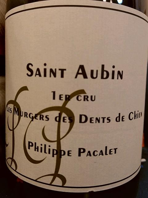 Philippe Pacalet Saint Aubin 1er Cru Les Murgers des Dents de Chien