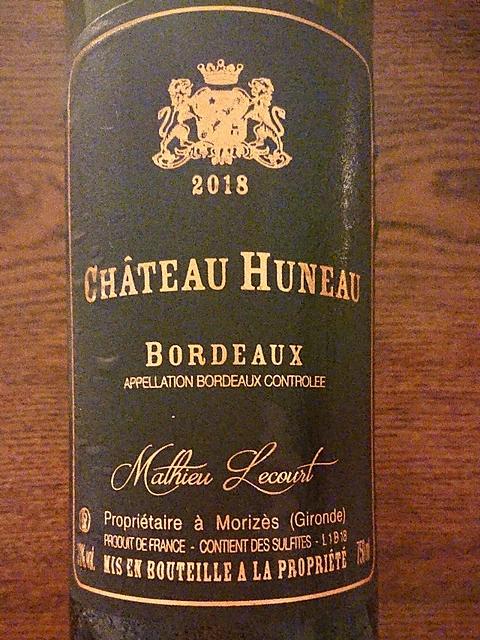 Ch. Huneau Bordeaux Rouge(シャトー・ウノー)