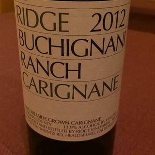 Ridge Buchignani Ranch Carignane 2012