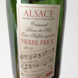 Pierre Frick Crémant d'Alsace Blanc de Noir Zéro Sulfite ajouté