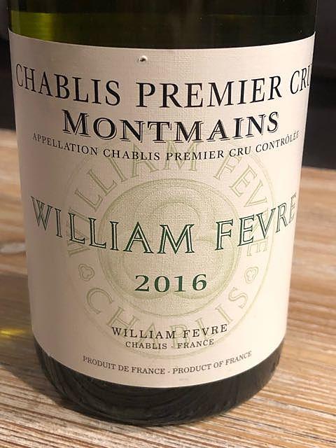 William Fèvre Chablis 1er Cru Montmains(ウィリアム・フェーブル シャブリ プルミエ・クリュ モンマン)