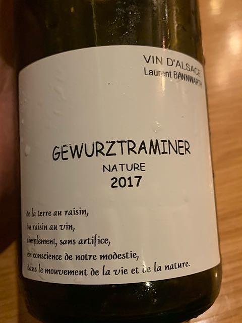 Laurent Bannwarth Gewürztraminer Nature(ローラン・バーンワルト ゲヴェルツトラミネール ナチュール)