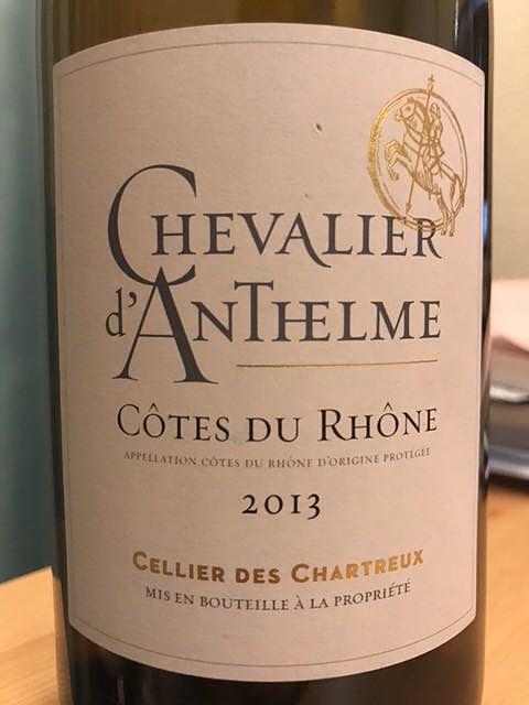 Cellier des Chartreux Chevalier d'Anthelme Blanc(セリエ・デ・シャルトリュ シュヴァリエ・ダンテルム ブラン)