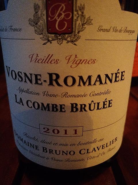 Dom. Bruno Clavelier Vosne Romanée La Combe Brûlées Vieilles Vignes(ドメーヌ・ブルーノ・クラヴリエ ヴォーヌ・ロマネ ラ・コンブ・ブリュレ ヴィエイユ・ヴィーニュ)