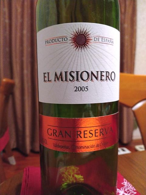 El Misionero Gran Reserva(エル・ミシオネロ テンプラニーリョ)