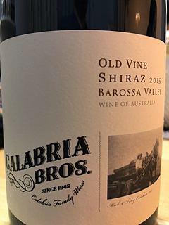 Calabria Bros. Old Vine Shiraz