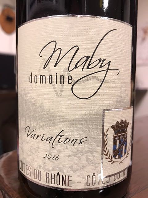 Dom. Maby Variations Côtes du Rhône Rouge(ドメーヌ・マビー ラ ヴァリアシオン コート・デュ・ローヌ ルージュ)