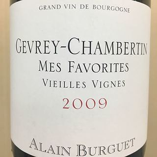 Alain Burguet Gevrey Chambertin Mes Favorites Vieilles Vignes(アラン・ビュルゲ ジュヴレ・シャンベルタン メ・ファヴォリット ヴィエイユ・ヴィーニュ)