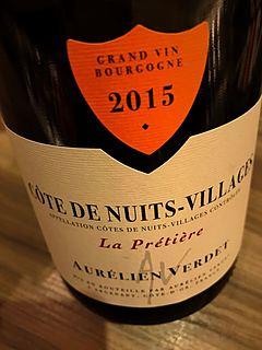 Aurélien Verdet Côte de Nuits Villages La Prétière(オーレリアン・ヴェルデ コート・ド・ニュイ・ヴィラージュ ラ・プレティエ)