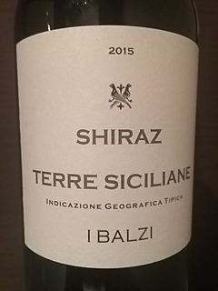 I Balzi Shiraz Terre Siciliane(イ・バルジ シラーズ テッレ・シチリアーネ)