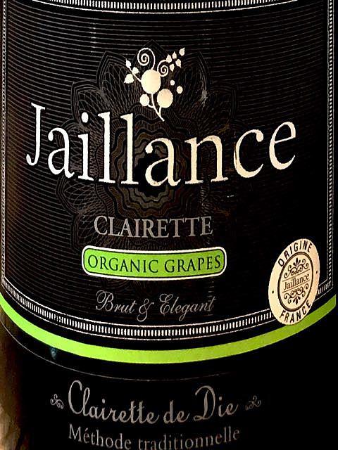 Jaillance Clairette de Die Clairette Brut Organic