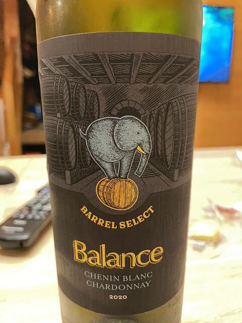 Balance Barrel Select Chenin Blanc Chardonnay(バランス バレル・セレクト シュナン・ブラン シャルドネ)