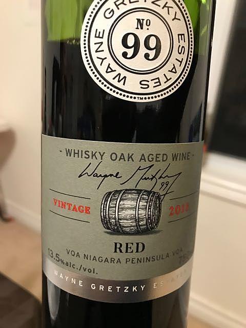 Wayne Gretzky Estates No.99 Whisky Oak Aged Red(ウェイン・グレツキー・エステーツ ウイスキー・オーク・エイジド レッド)