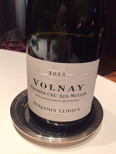 Benjamin Leroux Volnay 1er Cru Les Mitans(バンジャマン・ルルー ヴォルネー プルミエ・クリュ レ・ミタン)