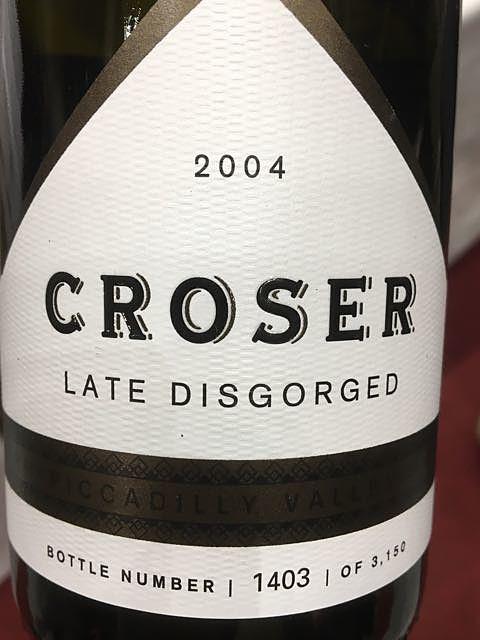 Croser Late Disgorged 2004(クローザー レイト・ディスゴージド)