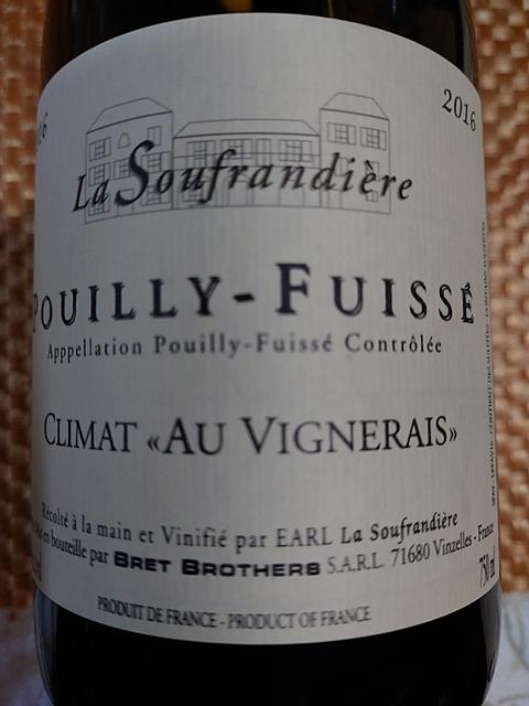 La Soufrandière Pouilly Fuissé Climat Au Vignerais(ラ・スフランディエール プイィ・フュイッセ クリマ・オー・ヴィニュレ)