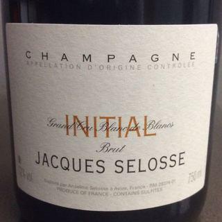 Jacques Selosse Brut Initial (Initiale)(ジャック・セロス ブリュット イニシャル)
