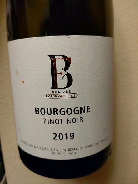Dom. Boigey Frères Bourgogne Pinot Noir(ドメーヌ・ボワジェ・フレール ブルゴーニュ ピノ・ノワール)